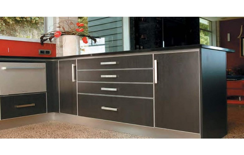 Plinth Panel (Toe Kick) 100mm Brushed Stainless Steel