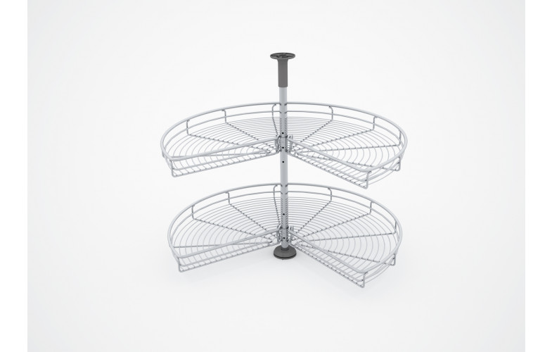 Wire Basket 3/4 Lazy Susan