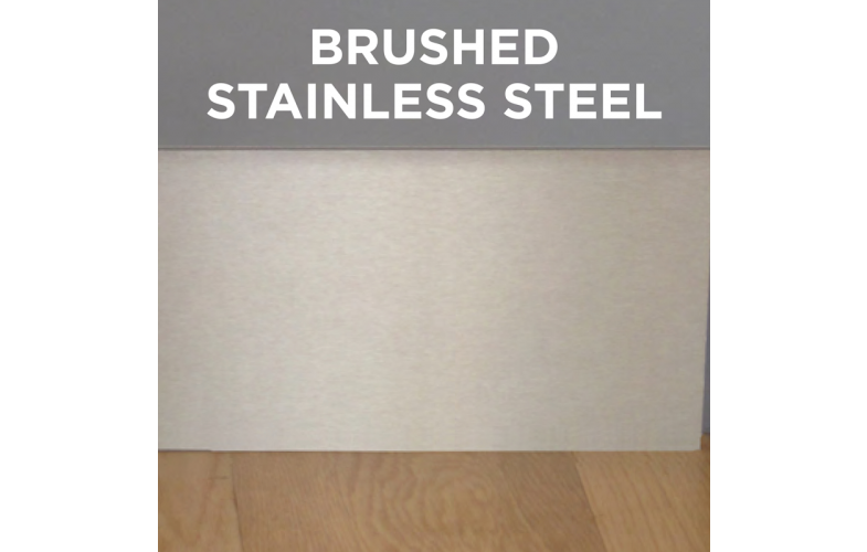 Plinth Panel Toe Kick 220mm Brushed Stainless Steel