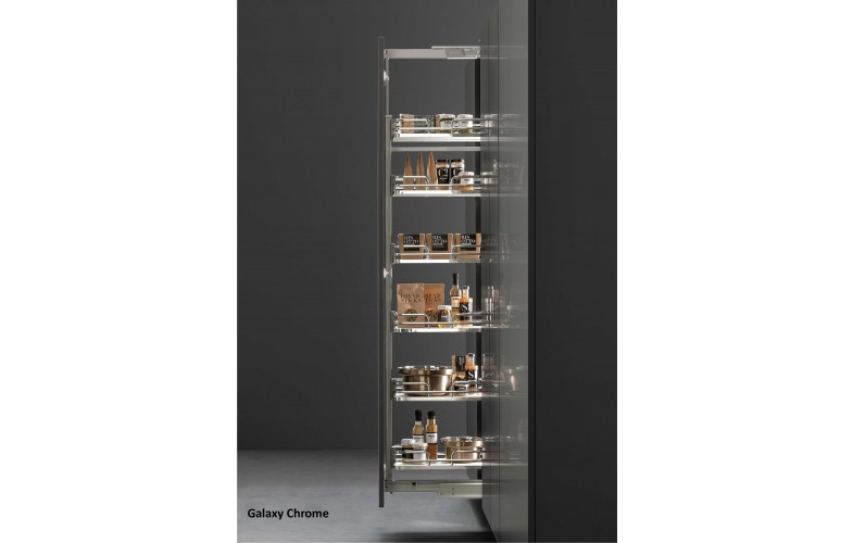 VIBO Pull Out Pantry - Galaxy Chrome